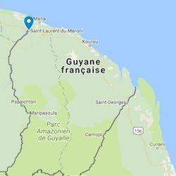 petite carte de la guyane