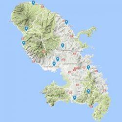 distilleries situées sur la carte de la Martinique